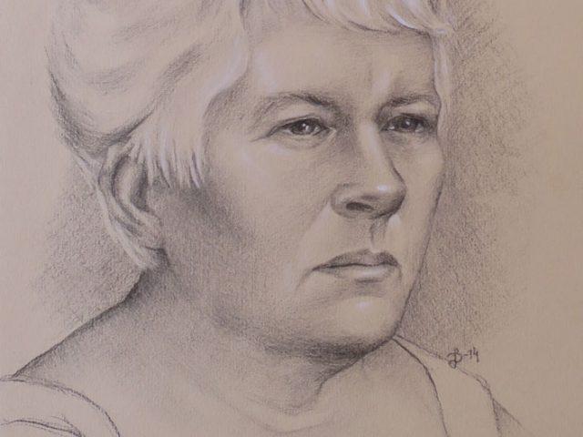 Porträtt av min mamma