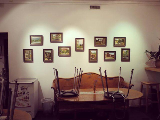 Utställning på Bokcafé Pilgatan i Umeå